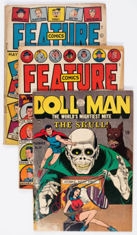 Doll Man-Related Group of 8 (Quality, 1940s) Condition: Average GD.... (Total: 8 Comic Books)