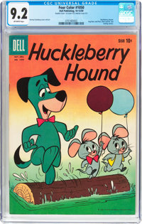 Four Color #1050 Huckleberry Hound - Double Cover (Dell, 1959) CGC NM- 9.2 Off-white pages
