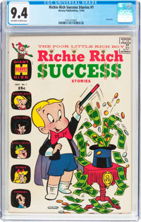 Richie Rich Success Stories #1 (Harvey, 1964) CGC NM 9.4 Off-white to white pages