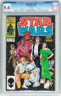 Modern Age (1980-Present):Science Fiction, Star Wars #107 (Marvel, 1986) CGC NM 9.4 White pages....
