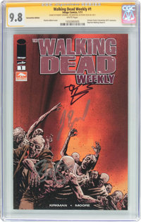The Walking Dead Weekly #1 Convention Edition - Signature Series (Image, 2011) CGC NM/MT 9.8 White pages