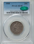 Seated Quarters: , 1848 25C XF45 PCGS. CAC. PCGS Population: (11/42). NGC Census: (2/24). Mintage 146,000. ...