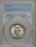 Washington Quarters, 1944-S 25C Doubled Die Obverse, FS-101 MS67 PCGS. (FS-017.5) PCGSPopulation: (3/0). NGC Census: (9/0)....