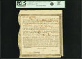 Colonial Notes:Massachusetts, Commonwealth of Massachusetts - (Act of February 17, 1781) 6%Treasury Loan One Fourth Installment Certificate 108 Pounds 11 S...