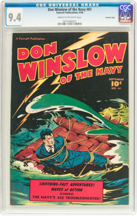 Don Winslow of the Navy #61 Crowley Copy Pedigree (Fawcett Publications, 1948) CGC NM 9.4 Cream to off-white pages