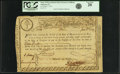 Colonial Notes:Massachusetts, State of Massachusetts Bay - (Act of April 4, 1779) 6% TreasuryLoan Certificate due January 1, 1783 15 Pounds June 1, 1779 An...
