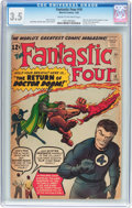 Silver Age (1956-1969):Superhero, Fantastic Four #10 (Marvel, 1963) CGC VG- 3.5 Cream to off-white pages....