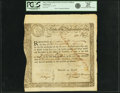 Colonial Notes:Massachusetts, State of the Massachusetts Bay - (Act of October 13, 1777) 6%Treasury Loan Certificate due March 1, 1781 13 Pounds 13 Shillin...