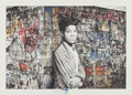 Fine Art - Work on Paper:Print, Mr. Brainwash (French, b. 1966). Samo is alive (Basquiat),2016. Screenprint in colors on hand torn archival paper, hand...
