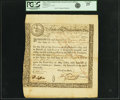 Colonial Notes:Massachusetts, State of the Massachusetts Bay - (Act of May 2, 1777) 6% TreasuryLoan Certificate due May 10, 1782 144 Pounds Aug. 21, 1777 A...