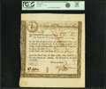 Colonial Notes:Massachusetts, State of the Massachusetts Bay - (Act of May 2, 1777) 6% TreasuryLoan Certificate due May 10, 1782 20 Pounds Septem'r 1, 1777...