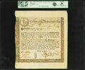 Colonial Notes:Massachusetts, State of the Massachusetts Bay - (Act of May 2, 1777) 6% TreasuryLoan Certificate due June 1, 1780 22 Pounds April 25, 1778 A...