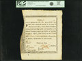 Colonial Notes:Massachusetts, State of Massachusetts Bay - (Act of December 6, 1776) Bounty NoteTen Pounds Feb. 22, 1777 Anderson-Smythe MA-6. PCGS Very Fi...