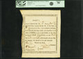 Colonial Notes:Massachusetts, State of Massachusetts Bay - (Act of December 6, 1776) Bounty NoteTen Pounds Jan. 11, 1777 Anderson-Smythe MA-5. PCGS About N...