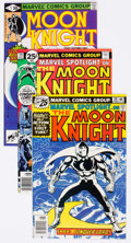 Modern Age (1980-Present):Superhero, Moon Knight Group of 8 (Marvel, 1976-81) Condition: Average NM-....(Total: 6 Comic Books)