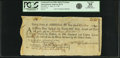 """Colonial Notes:Continental Congress Issues, United States of America - Continental Loan Office in the State of """"Massachusetts Bay"""" Exchange for $36/180 Livres Tournois Fo..."""