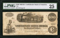 Confederate Notes:1862 Issues, T40 $100 1862 PF-1 Cr. 298 / 300.. ...
