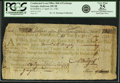 "Colonial Notes:Continental Congress Issues, United States of America - Continental Loan Office in the State of""Georgia"" Exchange for $120/600 Livres Tournois Fourth Bill..."