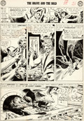 Original Comic Art:Panel Pages, Joe Kubert Brave and the Bold #34 Story Page 21 Hawkman andHawkgirl Original Art (DC, 1961)....