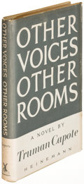 Books:Literature 1900-up, Truman Capote. Other Voices, Other Rooms. London: [1948].First English edition of his first novel....