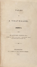 Books:Literature Pre-1900, [Washington Irving]. Tales of a Traveller... Philadelphia:1824. First U. S. edition, four parts bound into one volu...