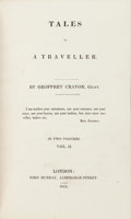 Books:Literature Pre-1900, [Washington Irving]. Tales of a Traveller... London: 1824.First edition.... (Total: 2 Items)
