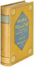 Books:Fiction, J. P. Marquand. Ming Yellow. Boston: 1935. First edition....