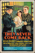 "Movie Posters:Crime, They Never Come Back (Weiss Brothers Artclass Pictures, 1932). OneSheet (27"" X 41""). Crime.. ..."