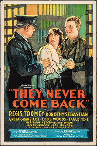 "They Never Come Back (Weiss Brothers Artclass Pictures, 1932). One Sheet (27"" X 41""). Crime"
