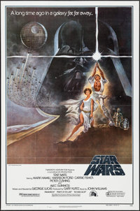 """Star Wars (20th Century Fox, 1977). Second Printing One Sheet (27"""" X 41"""") Style A. Science Fiction"""
