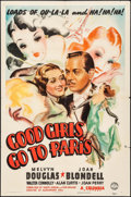 """Movie Posters:Comedy, Good Girls Go to Paris (Columbia, 1939). One Sheet (27"""" X 41"""").Comedy.. ..."""