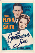 "Movie Posters:Sports, Gentleman Jim (Warner Brothers, 1942). One Sheet (27"" X 41""). Sports.. ..."