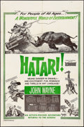 "Movie Posters:Adventure, Hatari! (Paramount, R-1967/R-1960s). Military One Sheet &Reissue One Sheet (27"" X 41""). Adventure.. ... (Total: 2 Items)"