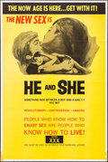 """Movie Posters:Adult, He and She & Other Lot (Aquarius Releasing, 1970). One Sheets (2) (28"""" X 41"""" & 28"""" X 42""""). Adult.. ... (Total: 2 Items)"""