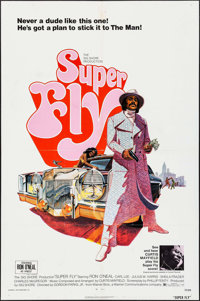 "Super Fly (Warner Brothers, 1972). One Sheet (27"" X 41""). Blaxploitation"