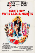 "Movie Posters:James Bond, Live and Let Die (United Artists, 1973). Italian Foglio (26.5"" X39""). James Bond.. ..."