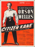 "Movie Posters:Drama, Citizen Kane (Dorfa, R-1950s). French Grande (47"" X 63""). Drama.. ..."