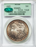 Morgan Dollars, 1885 $1 MS66 Prooflike PCGS. CAC. Ex: PCGS Tour. PCGS Population: (65/4). NGC Census: (42/4)....