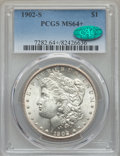 Morgan Dollars: , 1902-S $1 MS64+ PCGS. CAC. PCGS Population: (1524/405 and 66/18+). NGC Census: (817/116 and 12/1+). CDN: $725 Whsle. Bid fo...