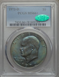 Eisenhower Dollars, 1972-D $1 MS66+ PCGS. CAC. PCGS Population: (509/17 and 33/0+). NGC Census: (330/4 and 2/0+). Mintage 92,548,512. ...