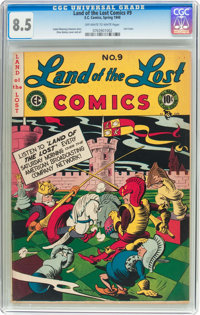 Land of the Lost Comics #9 (EC, 1948) CGC VF+ 8.5 Off-white to white pages