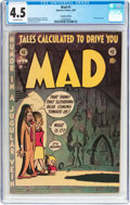 Golden Age (1938-1955):Humor, MAD #1 (Superior Comics, 1953) CGC VG+ 4.5 Off-white pages....