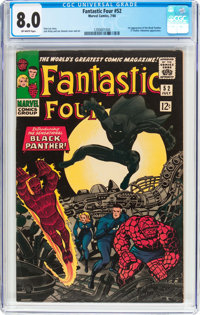 Fantastic Four #52 (Marvel, 1966) CGC VF 8.0 Off-white pages
