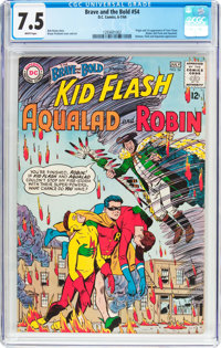 The Brave and the Bold #54 Teen Titans (DC, 1964) CGC VF- 7.5 White pages