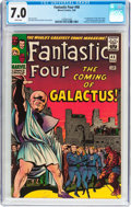 Silver Age (1956-1969):Superhero, Fantastic Four #48 (Marvel, 1966) CGC FN/VF 7.0 White pages....