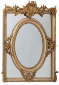 Decorative Arts, French, A Pair of Louis XVI-Style Painted and Gilt Mirrors, late 19th-early20th century. 56 inches high x 42-1/4 inches wide (142.2... (Total:2 Items)