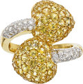 Estate Jewelry:Rings, Yellow Sapphire, Diamond, Gold Ring. ...