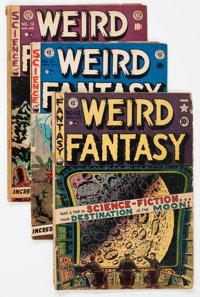 Weird Fantasy Group of 8 (EC, 1950-53) Condition: Average GD-.... (Total: 8 Comic Books)
