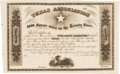 Autographs:Statesmen, [Mercer Colony]. Texas Association Unengrossed Certificate for theMercer Colony....