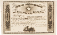Mercer Colony Texas Association Unengrossed Certificate